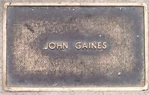 Gaines, John