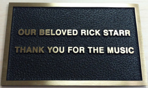 rick starr plaque