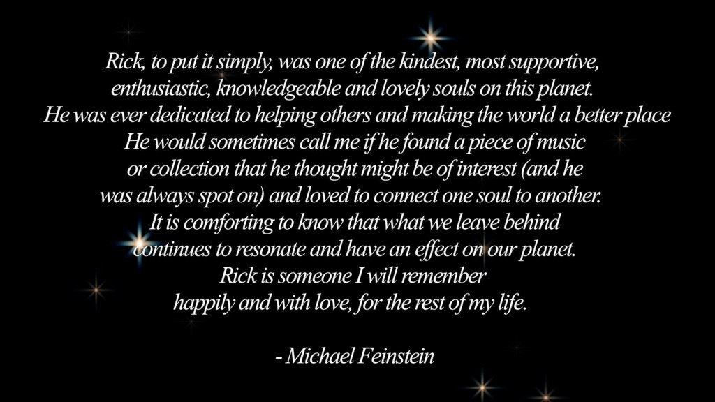 rick starr michael feinstein quotation